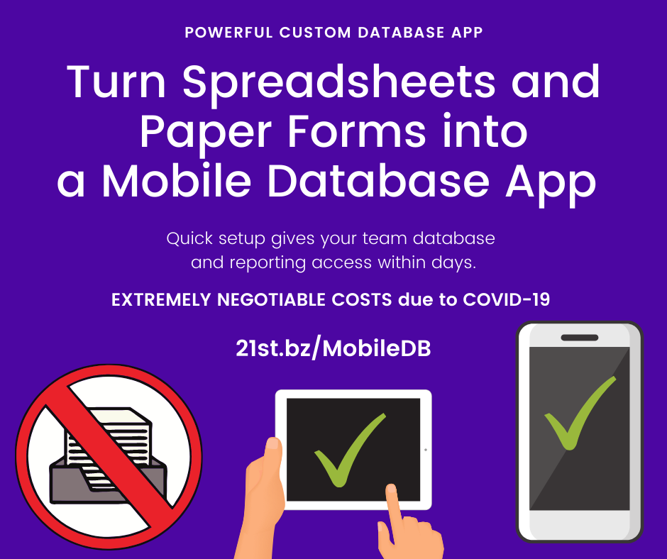 Turn Spreadsheets and Paper Forms into a Mobile Database App